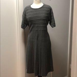 EUC Land's End Grey Wool Blend Dress